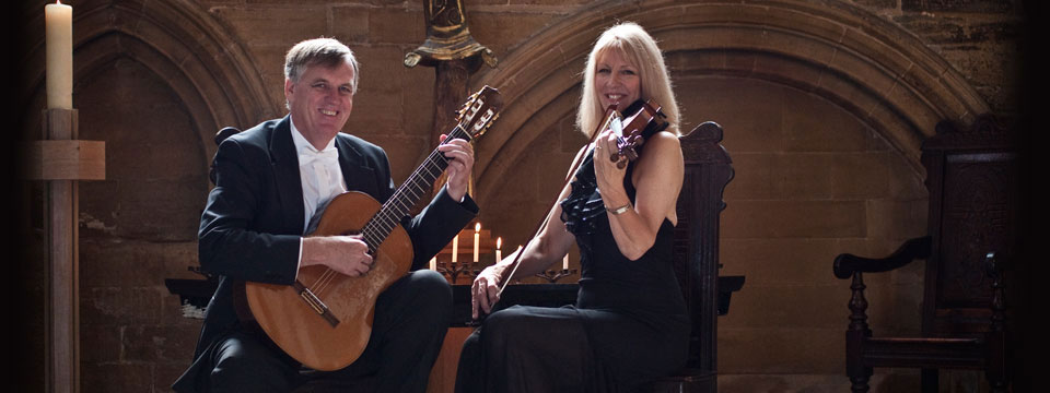 guitar and violin duo hire