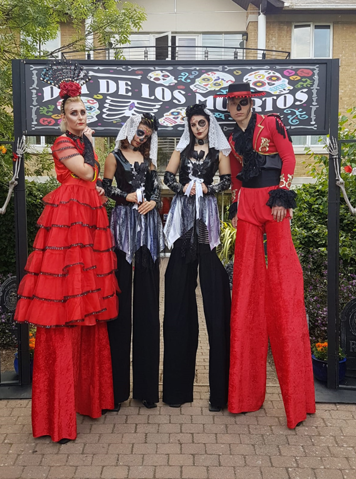 The Mexican Dancers - Day of the Dead Themed Dancers