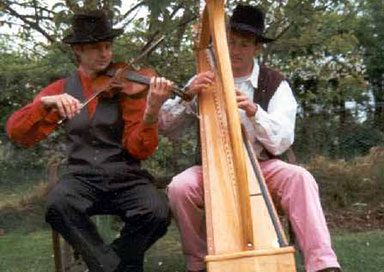 The Celtic Folk Brothers - Celtic Harp and Fiddle Duo