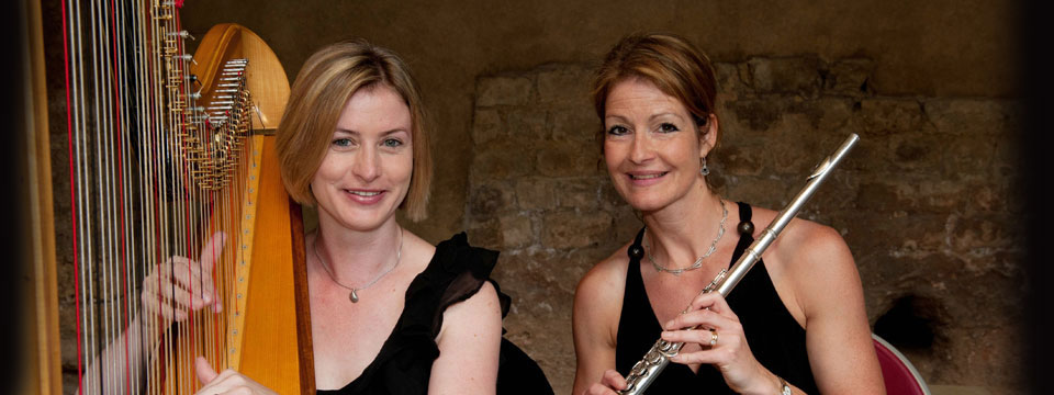 harp and flute duo hire