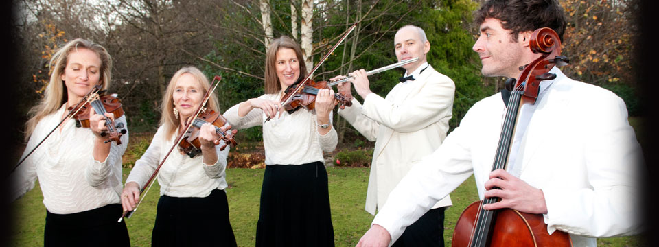 string quartet with flute for wedding