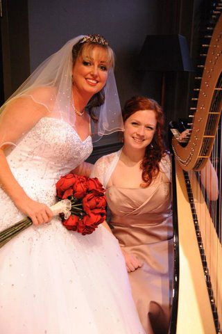 Harpist edinburgh wedding dress